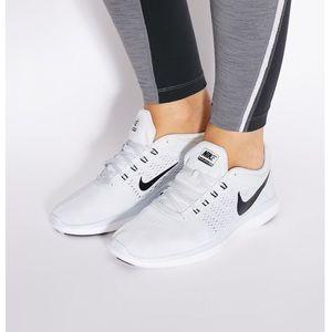 NIKE Flex White/Gray Running Shoe Sz 8.5 NWOT